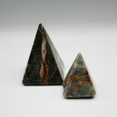 Decorative Pyramid // Set of 3 (Golden Crystal + Bottocino Beige + Milas White)