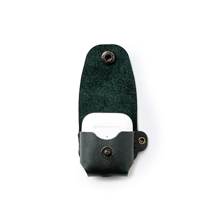 Airpods Leather Case // Emerald