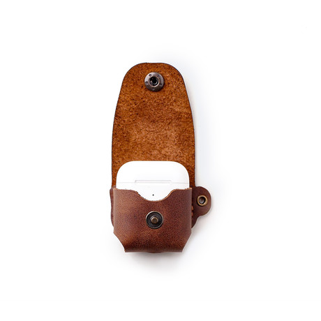 Airpods Leather Case // Tobacco