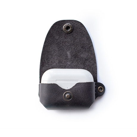 Airpods Pro Leather Case // Coal