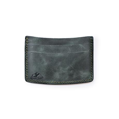 Milet Minimalist Card Holder // Emerald