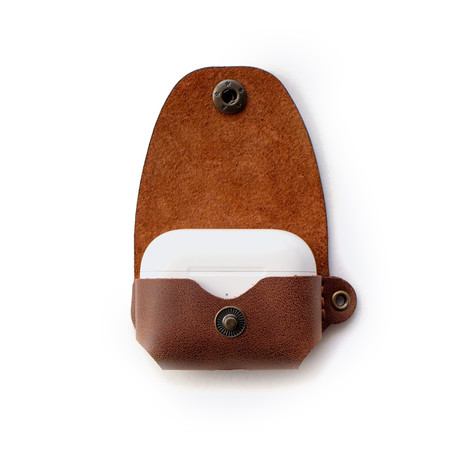 Airpods Pro Leather Case // Tobacco