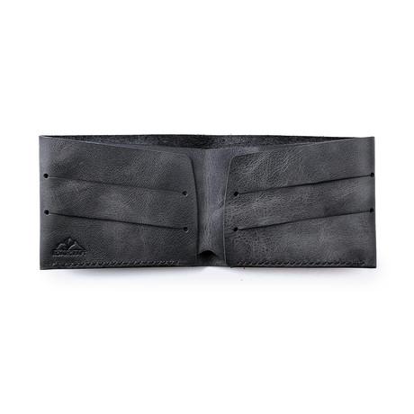Olympos Minimalist Bifold Wallet // Coal