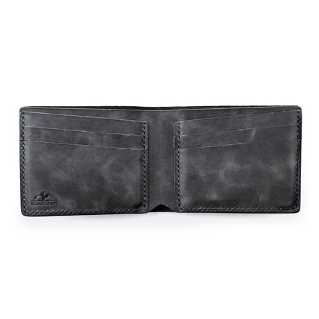 Pergamon Classic Bifold Leather Wallet // Coal