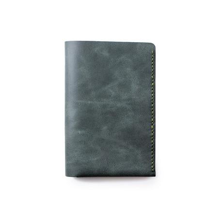 Teos Leather Passport Sleeve // Emerald