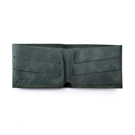 Olympos Minimalist Bifold Wallet // Emerald