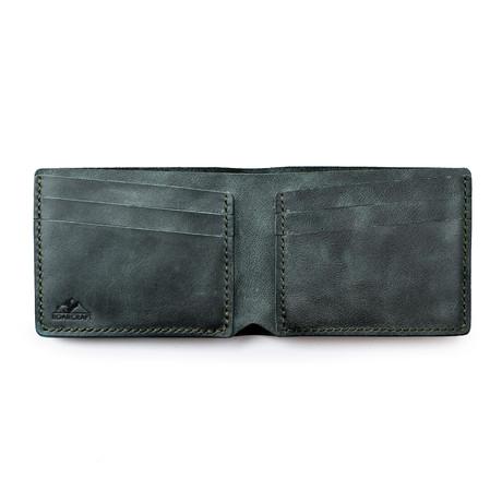 Pergamon Classic Bifold Leather Wallet // Emerald