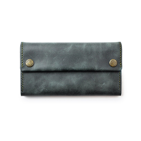 Leather Pouch // Emerald