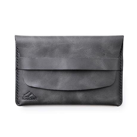 Zeugma Leather Travel Wallet // Coal