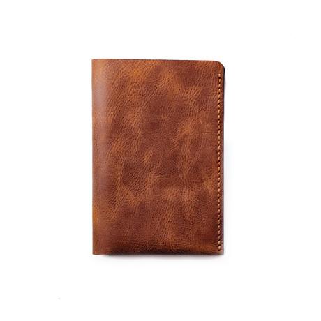 Teos Leather Passport Sleeve // Tobacco