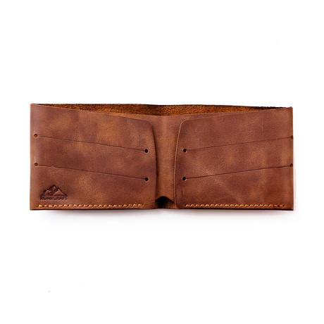 Olympos Minimalist Bifold Wallet // Tobacco