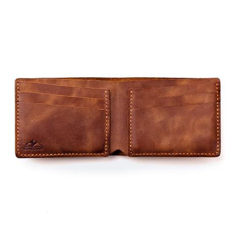 Pergamon Classic Bifold Leather Wallet // Tobacco