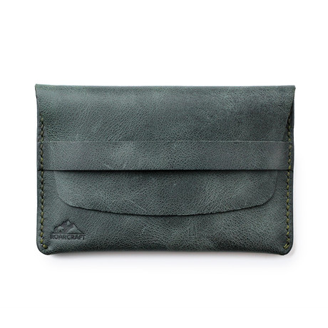 Zeugma Leather Travel Wallet // Emerald