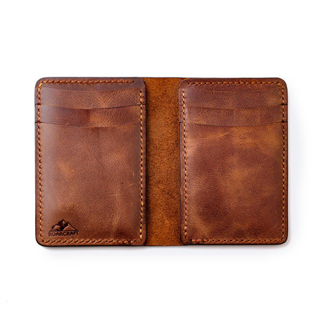 Leo Vertical Bifold Leather Wallet // Tobacco