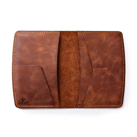 Nemrut Leather Passport Wallet // Tobacco