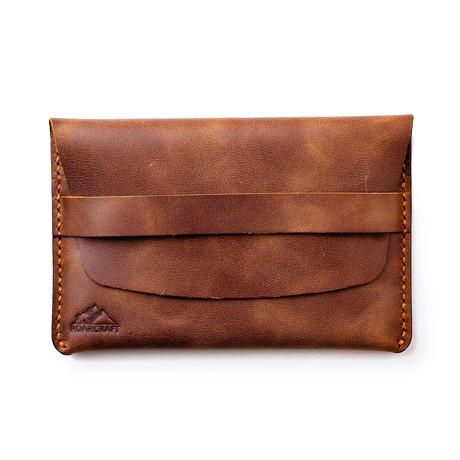 Zeugma Leather Travel Wallet // Tobacco