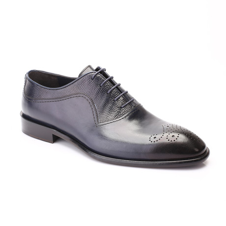 Troy Cap Toe Derby // Dark Blue (Euro: 40)