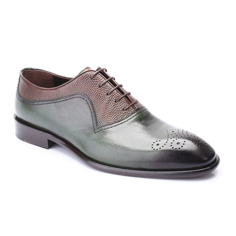 Jackson Dress Shoes // Green + Brown (Euro: 40)