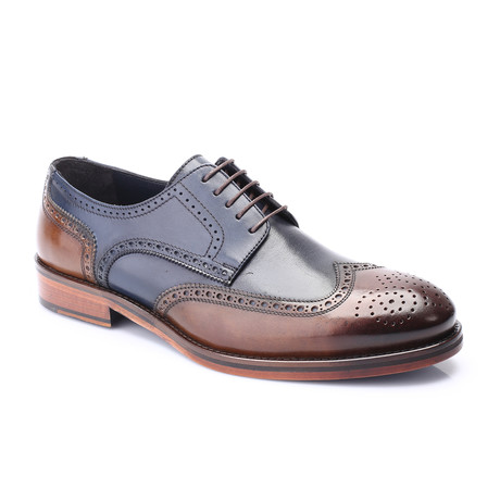 Memphis Cap Toe Derby // Brown + Dark Blue (Euro: 40)