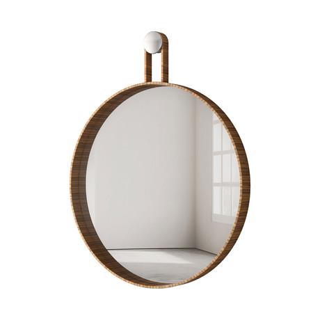"""Foster Mirror // 24"""" (Teak)"""