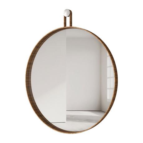 """Foster Mirror // 35"""" (Teak)"""