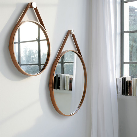 George Mirror (Whiskey Reclaimed Leather)