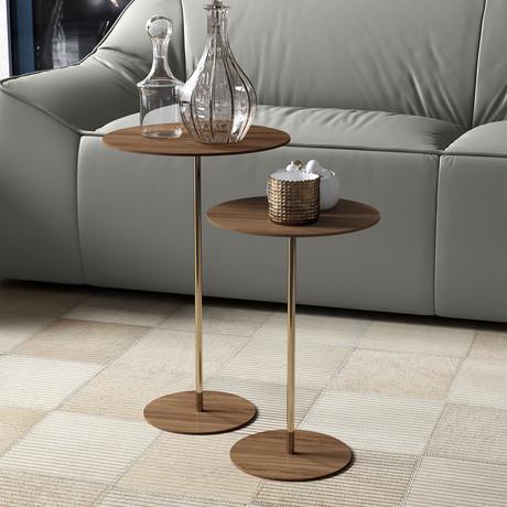 Dey Nesting Side Tables // Walnut