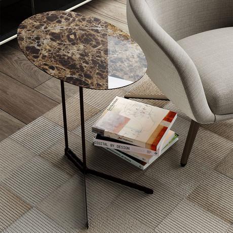 Cabrini Side Table // Emperador Marble