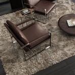 Charles Lounge Chair (Soft Snow Leather)