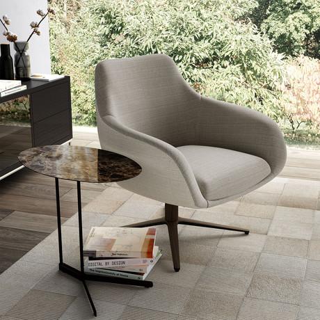 Cortlandt Lounge Chair // Oxford Tan + Cobblestone Fabrics