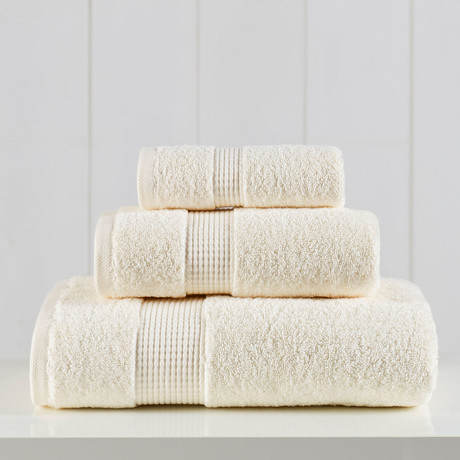 Manor Ridge Turkish Cotton 700 GSM // 3 Piece Towel Set (Ivory)