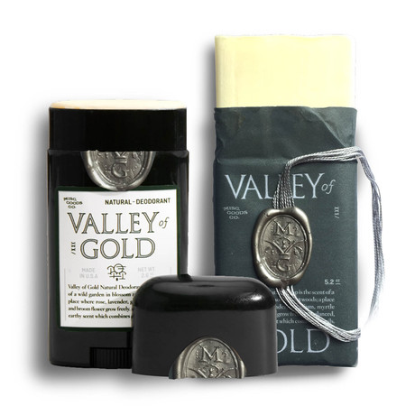 Valley of Gold Natural Deodorant + Valley of Gold Natural Soap
