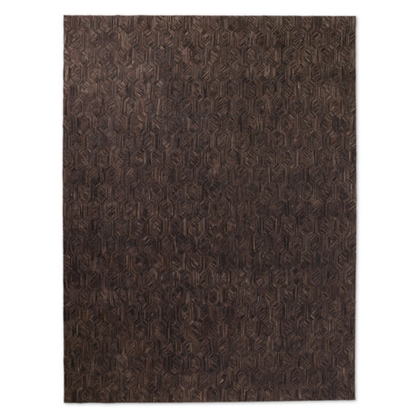 Cowhide Rug // Marquetry Charcoal (4' x 6')