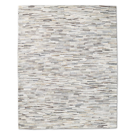 Cowhide Rug // Steel Stripe (4' x 6')