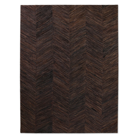 Fino Cowhide Rug // Chocolate + Charcoal (4' x 6')