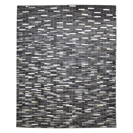 Cowhide Rug // Charcoal Stripe (4' x 6')