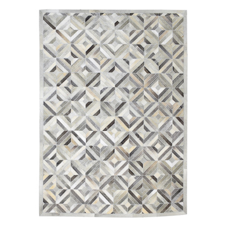 Cowhide Rug // Gray Diamond (4' x 6')