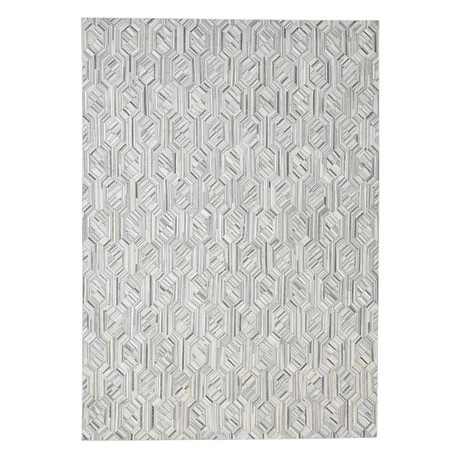 Cowhide Rug // Marquetry Ivory (4' x 6')
