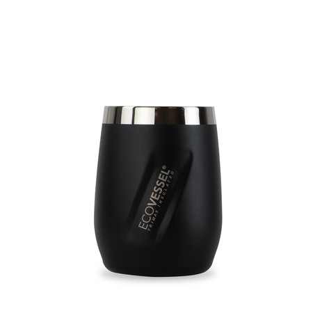 Port Trimax® Insulated Stainless Steel Wine Tumbler // 10 oz. (Black Shadow)
