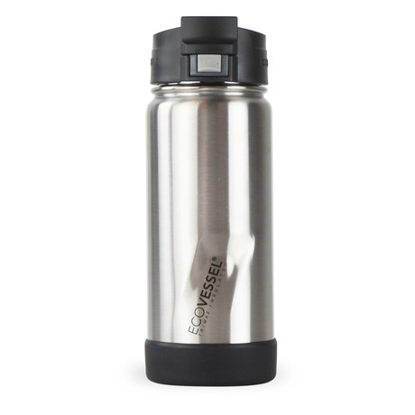 Perk Trimax® Insulated Stainless Steel Push Button Bottle + Lock // 16 oz. (Silver Express)