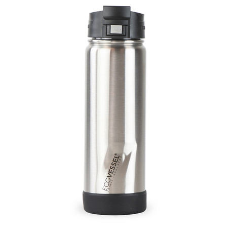 Perk Trimax® Insulated Stainless Steel Push Button Bottle + Lock // 20 oz. (Silver Express)
