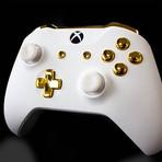 Xbox One Controller // White Velvet + Gold