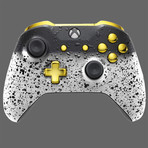 Xbox One Controller // 3D White Shadow + Gold