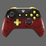 Xbox One Controller // 3D Red Shadow + Gold