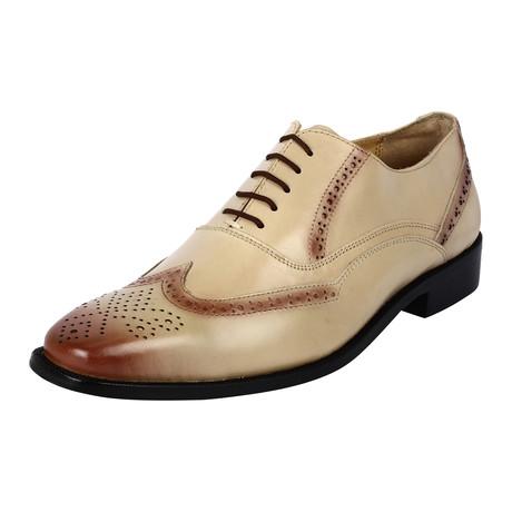 Bubble Dress Shoes // Brown + Beige (US: 6.5)