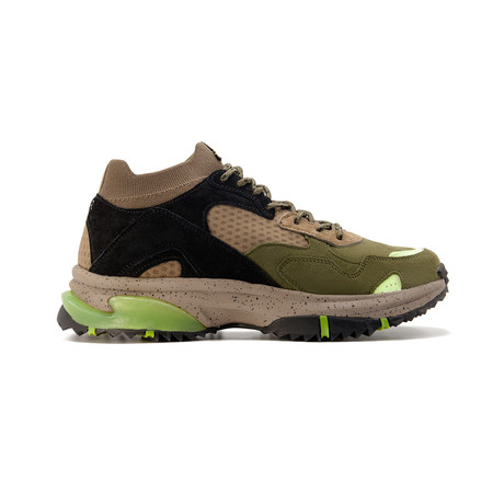 Canal Sneaker // Olive + Black + Neon Green (US: 7.5)