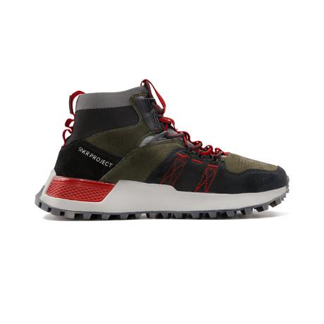Watts Sneaker // Black + Olive + Red (US: 7.5)