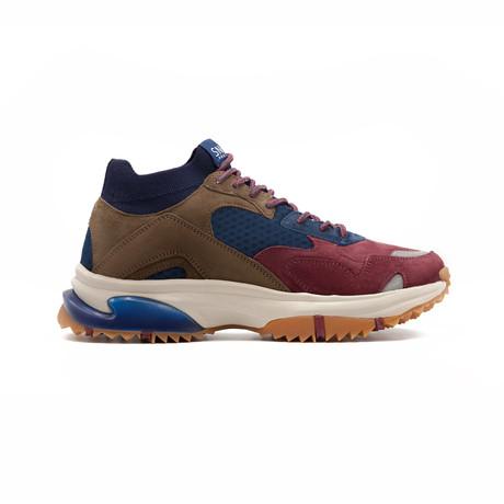 Canal Sneaker // Burgundy + Navy (US: 7.5)