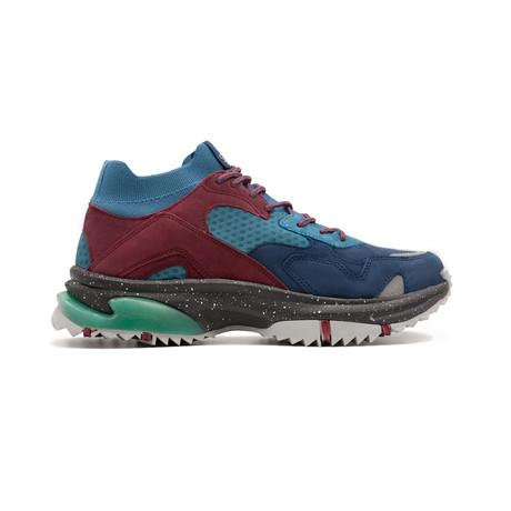 Canal Sneaker // Denim + Burgundy + Navy (US: 7.5)