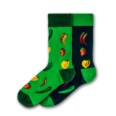 Men's Regular Socks Bundle // Green // 2 Pairs